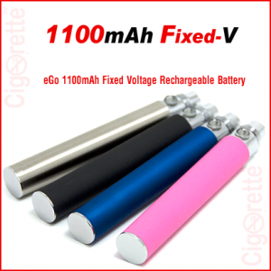 A 1100mAh Fixed-V eGo style rechargeable battery