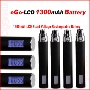 A smart 1300mAh LCD rechargeable battery