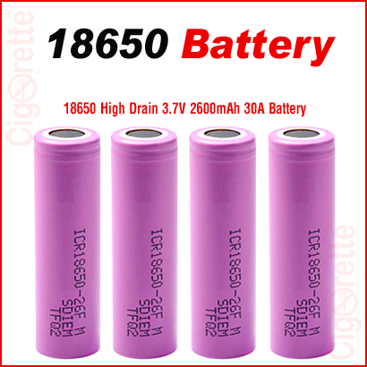 A quality Li-ion high drain rechargeable 18650 battery for e-cig MODs