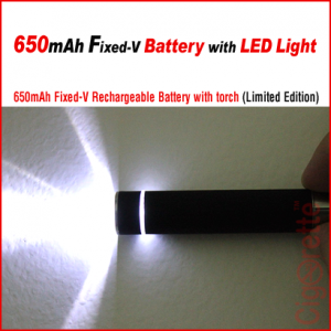 A smart eGo 650mAh LED light torch rechargeable battery