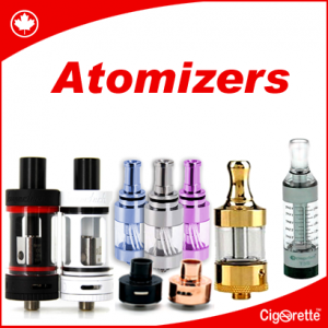 An atomizer is a main component of an e-vaporizer. It contains a small heating element that vaporizes e-liquid, and a wicking material that draws liquid onto the coil.