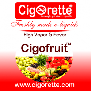 cigofruit e-liquid - A Juicy Tutti Frutti (fruit salad vaping ejuice)