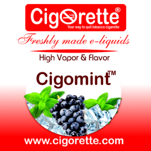 Cigomint e-liquid - Cigorette Inc - electronic cigarettes and liquids Canada