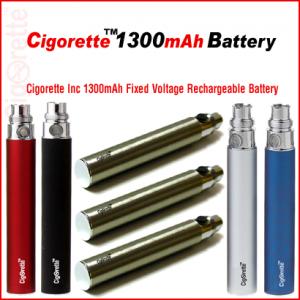 Cigorette Inc 1300mAh Fixed-V eGo style rechargeable battery