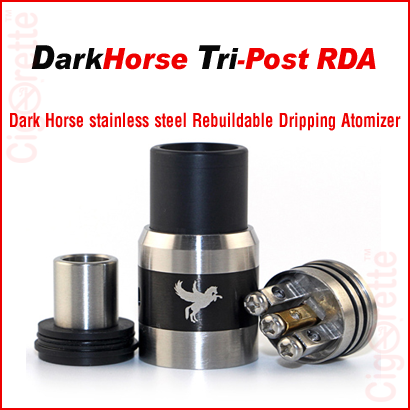 A Tri-Post Dark Horse RDA of adjustable airflow control system
