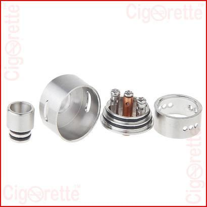 A 510 threaded Derringer tri-post RDA of adjustable airflow control and rebuildable coil atomizer system