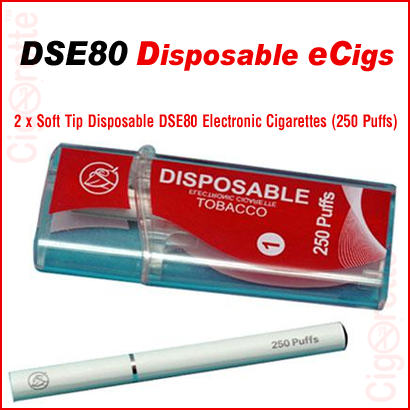 2 medium strength disposable DSE80 e-cigarettes