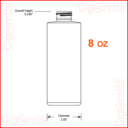 8 oz HDPE Cylinder Bottle