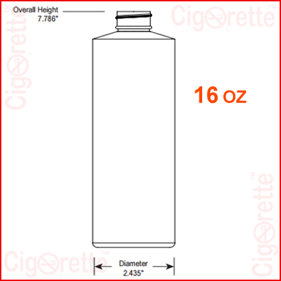 16 oz HDPE Cylinder Bottle