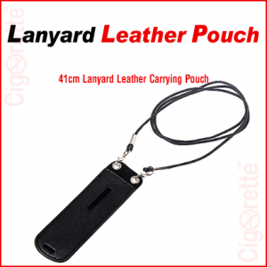 An eGo style neck lanyard leather pouch