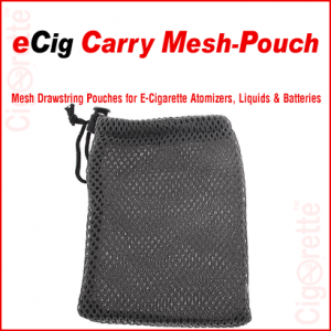 A drawstring mesh pouch for electronic cigarettes
