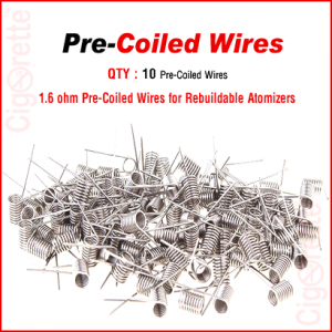 1.6 ohm Nichrome pre-coiled wires for RDA, RTA, and RBA