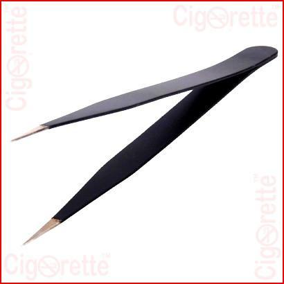 An ESD anti-static angled stainless steel RBA tweezers