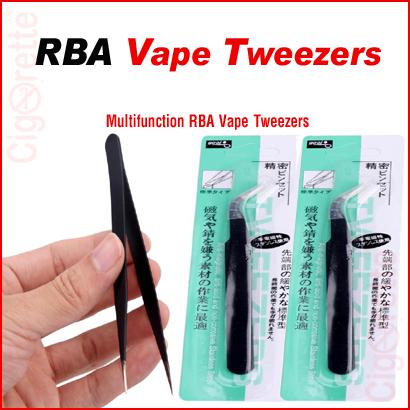 An ESD anti-static angled stainless steel RBA tweezers