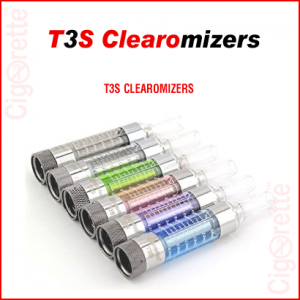 A 510 threaded 2.8ml 2.2ohm T3S bottom coil clearomizer