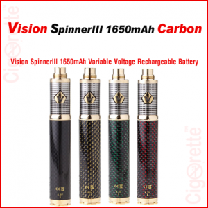 A rich looking and heavy duty 1650mAh variable voltage e-cig battery