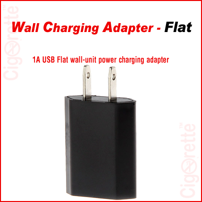 USB to AC flat charging adapter.