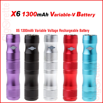 A quality X6 1300mAh variable 3.2-4.2 voltage rechargeable battery.