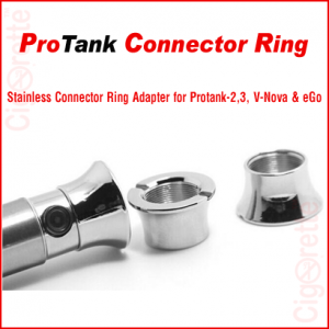 A decorative stainless connector ring that covers the 510 threading connection between batteries and atomizers.