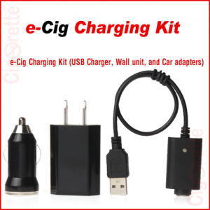 An essential set of 510 threaded charging USB cable, AC wall unit adapter, and car DC plug adapter