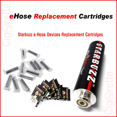 A nicotine-free Starbuzz eHose replacement cartridge.