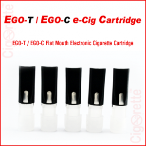 An empty flat mouth eGo-C/eGoT HDPE Cartridge