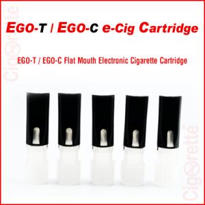 An empty flat mouth eGo-C/eGoT HDPE Cartridge