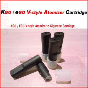 A flat mouth e-Cigarette K-Go cartridge for eGo V-style atomizers