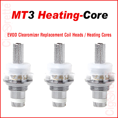 An EVOD bottom-coil atomizer MT3 Heating-Core