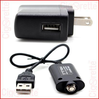 E-Cigarettes USB charger and adapter for 510 threaded e-cigarettes.