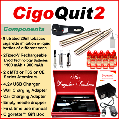 CigoQuit2 from Cigorette Inc is for regular smokers