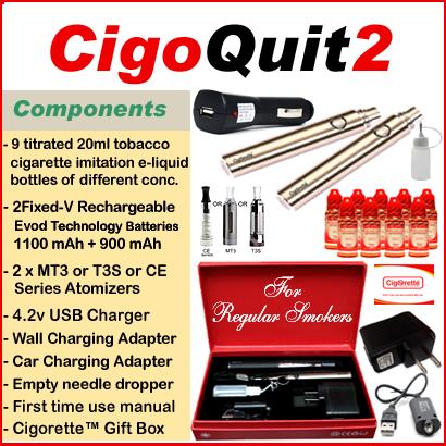 CigoQuit2 from Cigorette Inc is for regular smokers