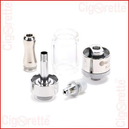 A 510 threaded Protank-3 clearomizer of 2.5ml tank volume and 2.0 ohm bottom dual coil resistance