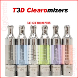 A 510 threaded 2.2ml 1.5ohm T3S bottom dual coil clearomizer