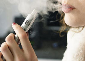 What is in the e-cigarette vapor?